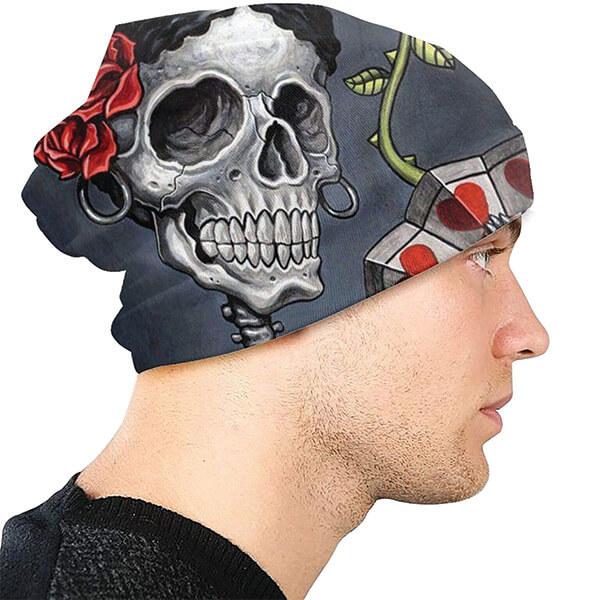 Goth Skull Beanie for Girls