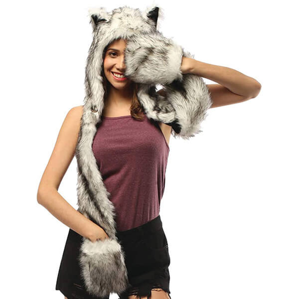 Multifunctional Faux Fur Furry Beanie to Gift Someone