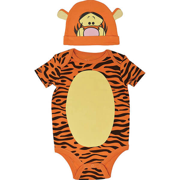 Tigger Bodysuit With Hat For 0-2 Years