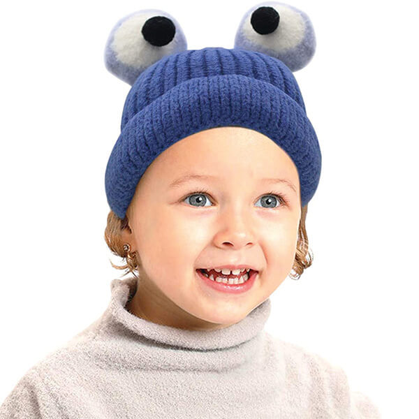 Warm and Comfortable Popping Eyes Frog Beanie