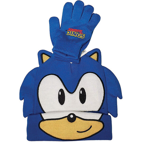 Warm Cuff Sonics Beanies With Mittens