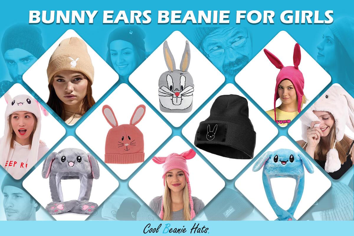 Bunny Ears Beanie for Girls