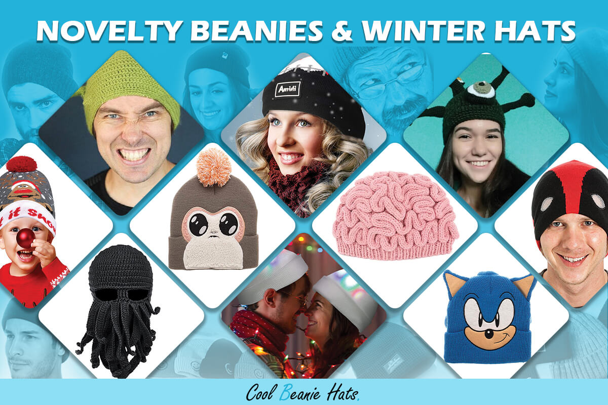 Novelty Beanies and Winter Hats