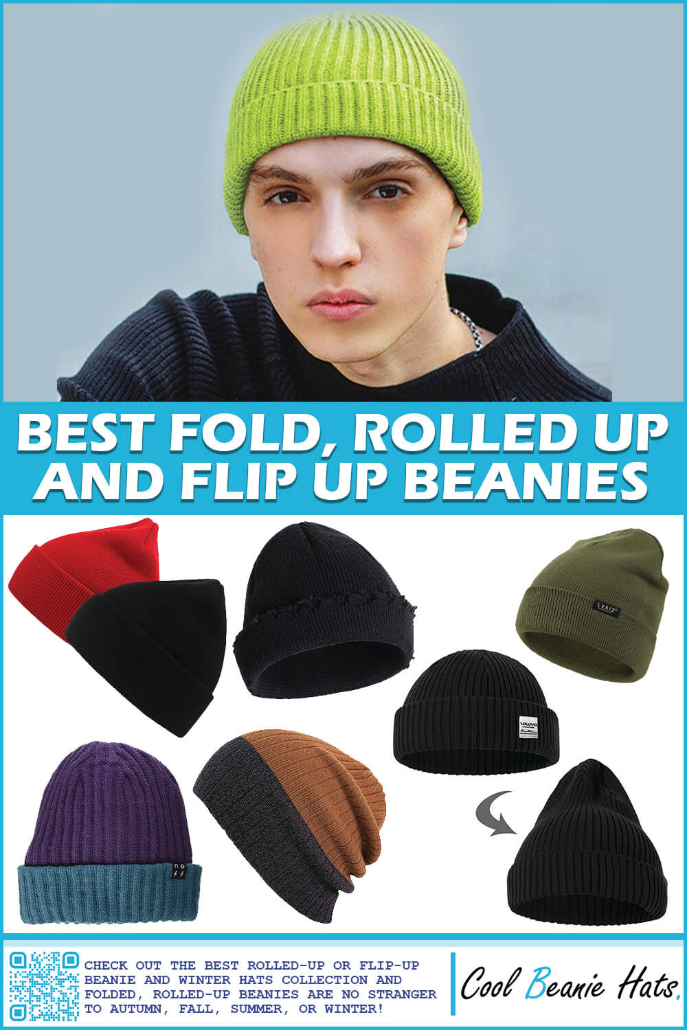 best fold rolled up beanies