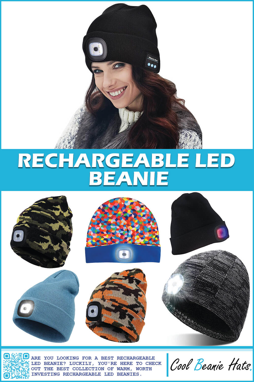 best rechargeable LED beanie