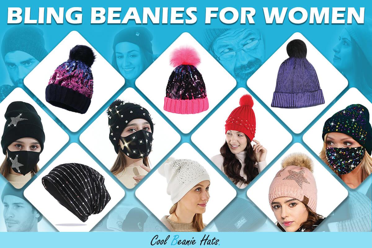 bling beanies women