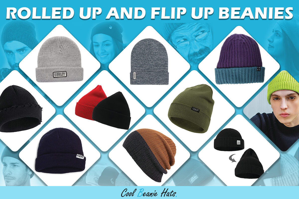 fold up rolled up beanies
