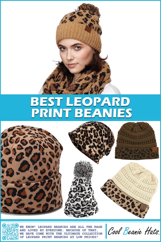 leopard print beanies