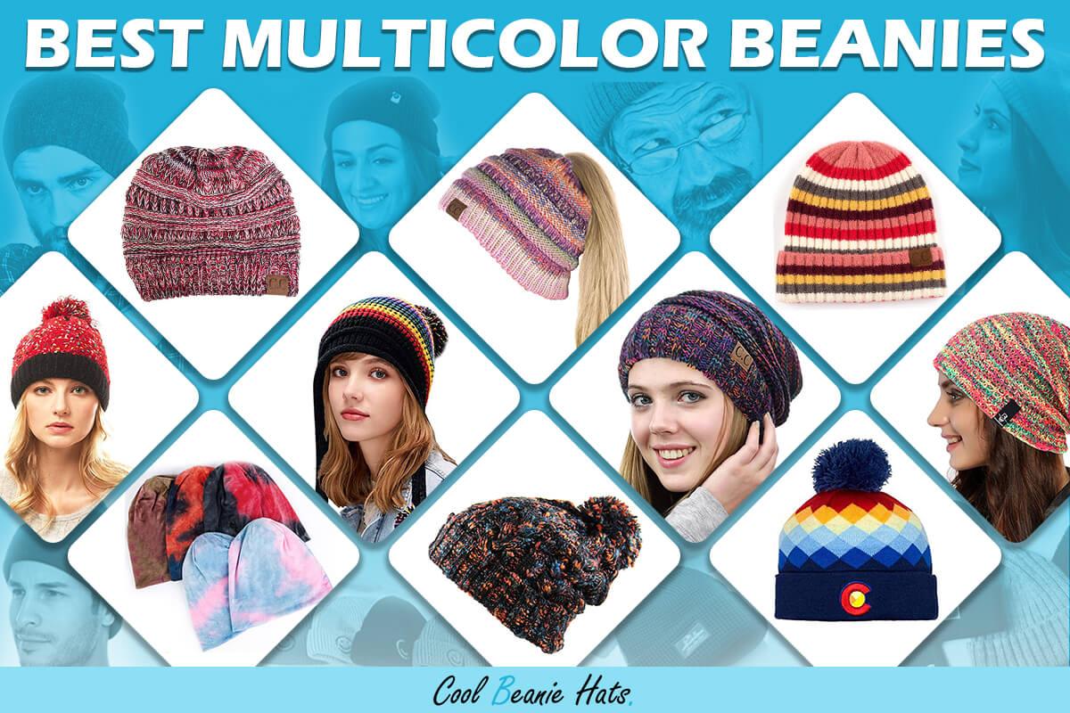 multicolor beanies