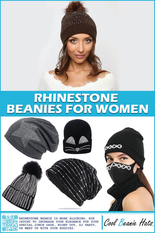 rhinestone beanies for women