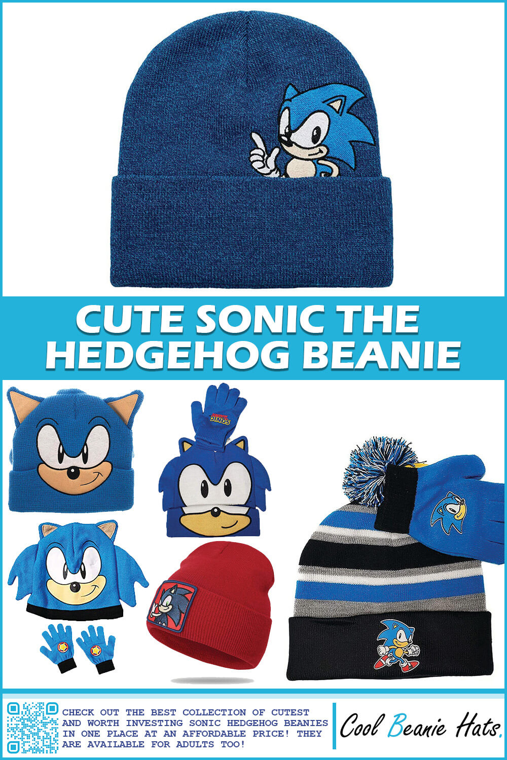 sonic the hedgehog beanies