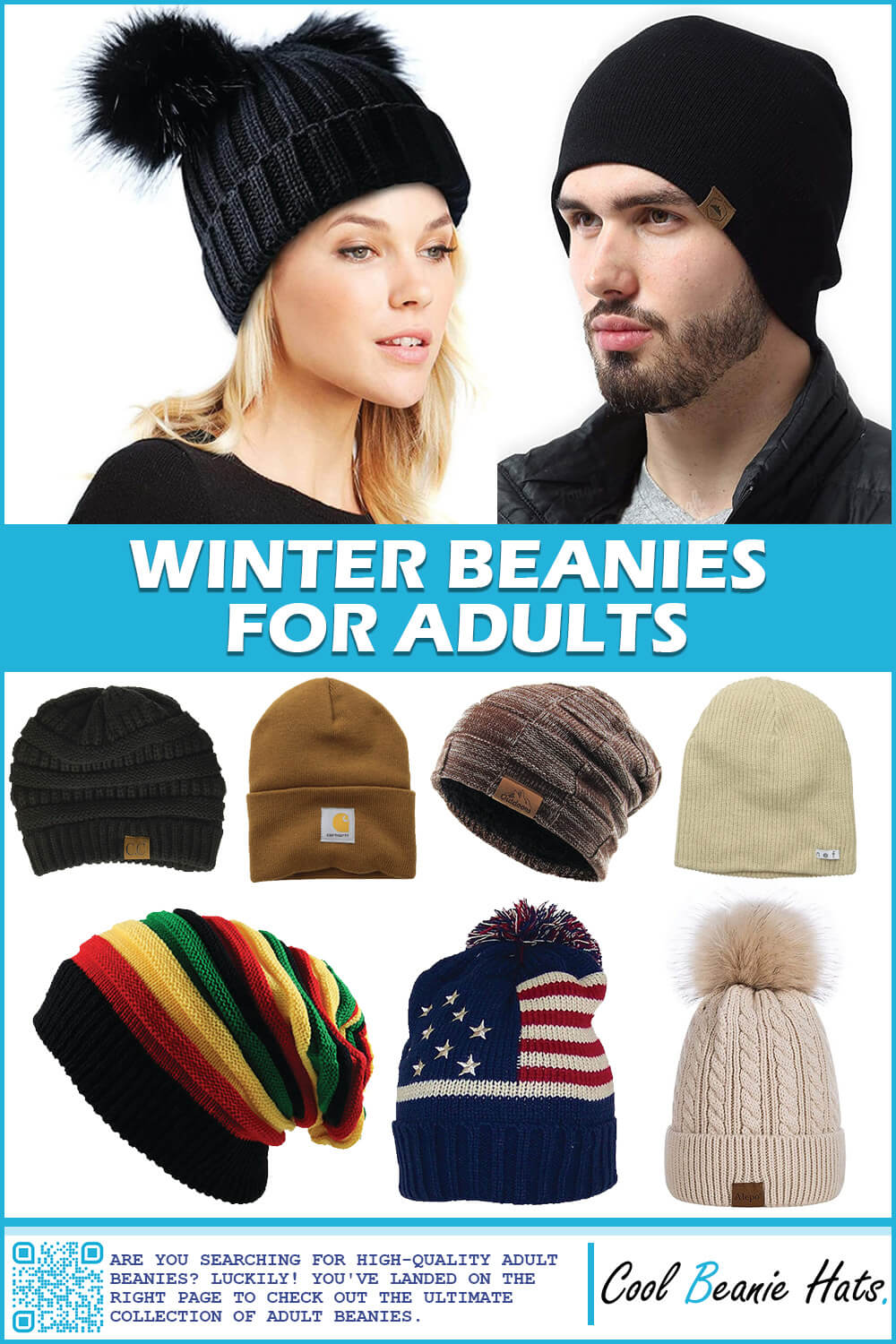 winter beanies for adults