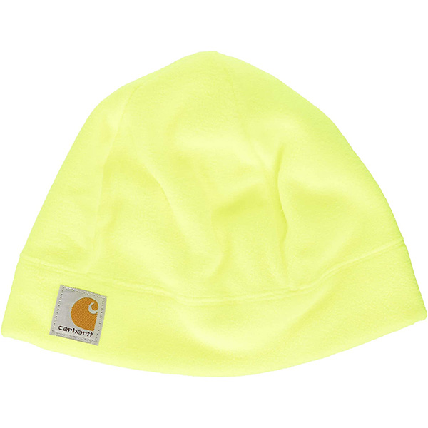 Acrylic Yellow and Orange Beanie Hat for Males
